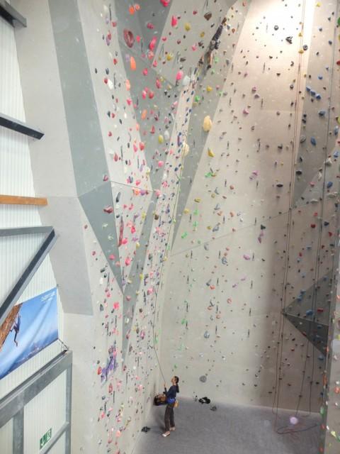 Kletterhalle_Sichern_Vorstieg