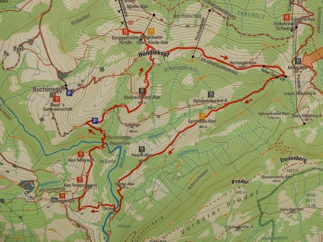 Wanderweg_Huendlekopf_Karte